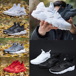 Wholesale Nice Lighting - 2018 Running Shoes Huarache Ultra 4.0 runner For Men Womens 1s triple Black White gold Red Huaraches casual nice Sports Sneakers trainer