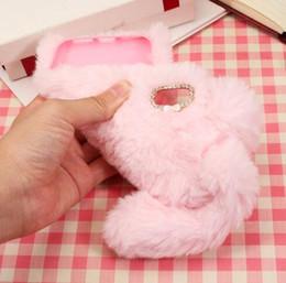 Luxe 3D Lapin oreille chaude Fourrure diamant couverture d'hiver Cas Cheveux Fluffy pour iphone X 8 7 6 6 S Plus Samsung Galaxy S8 S9 Plus ? partir de fabricateur