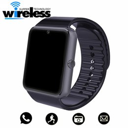 Wholesale Kids Wrist Watch Gps Tracker - GT08 Bluetooth Smart Watch with SIM Card Slot Health Watchs for Android Samsung IOS Apple Smartphones Bracelet Smartwatch