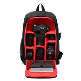 bolso de la cámara del agua Rebajas DSLR Mochila Cámara Video Bag Fotografía resistente al agua a prueba de golpes acolchada para Nikon Canon Sony DSLR Camera Lens Accessories