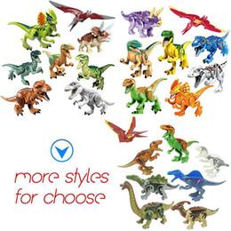 Pack de construction en Ligne-DHL Dinosaure blocs de construction série jouets enfants puzzle jouet assemblage bloc petite particule bâtiment jouet multi styles OPP sac emballage