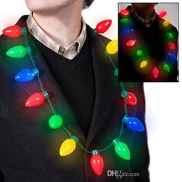 2019 conduit ampoule collier Lumières de Noël Collier LED Light Up Ampoule Party Favors Pour Adultes Ou Enfants Comme Un Cadeau De Nouvel An LED Collier conduit ampoule collier pas cher