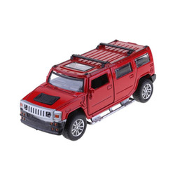 Wholesale mini suv car - 1:32 Alloy Simulation SUV Car Model Toy Mini Music Sound LED Lighting Off-road Car Vehicle Model Toy Collection