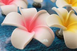Artesanía decorativa del imán del refrigerador de la espuma del PVC 3D de la flor del Plumeria del Frangipani rosado desde fabricantes