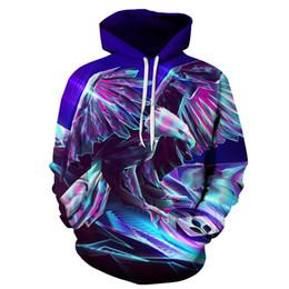 Chaquetas de jersey de niños online-Cool Eagle 3D sudaderas con capucha Animal impreso Sudaderas hombres mujeres Jersey con capucha Chándales Otoño Fashion Casual Boy Jackets