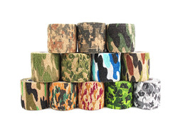 Wholesale military guns - Outdoor Military Telescopic Camouflage Tape For Hunting Gun Cycling Tool Protective Camo Fabric Tapes Support FBA Drop Shipping G486F