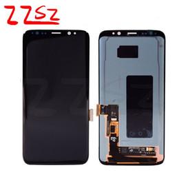 iphone vidrio frontal dorado Rebajas La original para el Galaxy de Samsung más S8 lcd G955 G955A G955F G955FD G955P G955S G950F G950A pantalla LCD táctil digitalizador libre de DHL