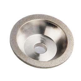 Wholesale grinding abrasive wheel - Freeshipping 100*20mm Diamond Grinding Wheels 60 80 100 120 150 180 240 400 Grits Grinding Cup Diamond Wheels For Carbide Tool Abrasive Tool