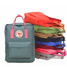Wholesale canvas panels wholesale - couple backpack classic mini rucksacks unisex canvas students shoulder Student bags handbags Schoolbag Girl boy Free shipping