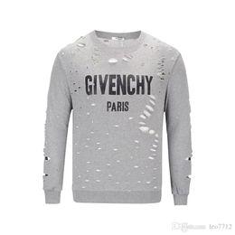 2019 homme t shirt giv 18ss détruit Logo t-shirt été Europe Paris mode  hommes 5c50b0c541c