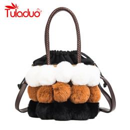 faux fur handbags red Promo Codes - Tuladuo Women Fur Winter Handbag Luxury Women  Bags Patchwork a7e2bc3d39cbd