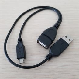 10pcs / lot USB Type A Femelle vers USB Type A Mâle Micro USB Mâle Splitter OTG Câble d'extension de données 30 + 20cm ? partir de fabricateur
