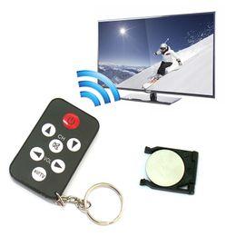 Wholesale mini tv remote control keychain - Universal Infrared IR TV Set Mini Keychain TV Remote Control Key Ring 7 Keys for Philips for Sony Panasonic Toshiba