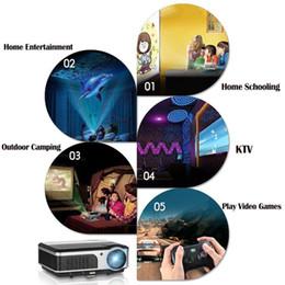 canais de filmes Desconto CAIWEI Portátil LCD Projetor com Saco de Cinema Em Casa Vídeo 1080 P Filme Teatro TV Show de Canal Full HD LED Beamer Multimídia