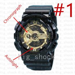 2019 perno de choque Marca de fábrica de los hombres deportes reloj de pulsera digital, deporte reloj hombre Ejército Militar cronógrafo reloj de choque resistir relogio masculino Casual horas perno de choque baratos