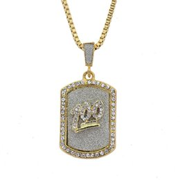 Wholesale wholesale jesus pieces - Wholesale 5 Styles Satin Cross Jesus Pieces Pendant Choker Gold Chain Iced Out Chains Hip Hop Jewelry Mens Necklace Iced Out Mens Jewelry