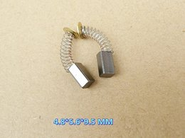 50 pçs / set 25 pares 4.8 * 5.6 * 9.5mm escovas de carbono para parte de reparação do motor elétrico genérico ou furadeira elétrica de