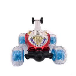детские игрушки для мальчика Скидка 360 градусов вращения автомобиля дистанционного управления вращающимся колесом автомобиля трюк электрический со светом и музыкой игрушки K0355