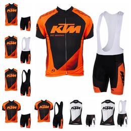 2019 maillot de course ktm KTM équipe manches courtes (bavette) shorts gilet sans manches définit Racing Vélo Vêtements respirant Maillots Vélo Maillot Ropa Ciclismo 101206F maillot de course ktm pas cher