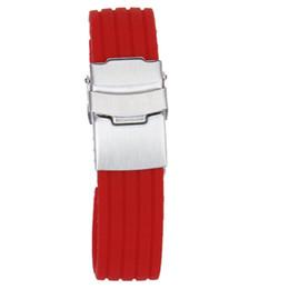 Argentina Moda Pulsera de caucho de silicona roja Relojes Correa de banda impermeable 20 mm supplier waterproof rubber tape Suministro