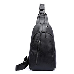 leather bags dropshipping Coupons - Dropshipping New PU Leather Chest Bags Messenger Bag Male Shoulder Strap Back Bags Crossbody Men Chest Pack