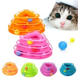 Wholesale Play Entertainment - New Funny Cat Pet Toy Cat Toys Intelligence Triple Play Disc Cat Toys Balls For Fun and Entertainment