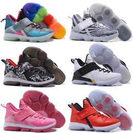 """Wholesale Ice Tassel - 2018 New Arrival James Low XIV 14 """"Chase Down"""" Black White Ice Men's Basketball Shoes for Top quality Sports Training Sneakers SZ 7-12"""