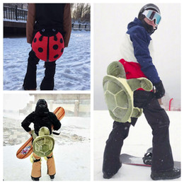 Wholesale Pink Ladybug - Tailbone Hip Protection Turtle Ladybug Cushion for Skiing Skating Snowboarding Buttocks Pads for Adults and Children OOA4473