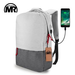Wholesale Rucksack Laptop Bags - MARKROYAL External USB Charge Laptop Backpack Waterproof Rucksack Notebook Computer Bag 15.6 Inch for Women Men School Bag