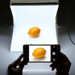 vendita all'ingrosso Lightbox portatile Mini softbox LED Photo Studio Pieghevole scatola luminosa Camera fotografia Sfondo Light Box Softbox r30 da