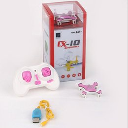 Wholesale Electric Rc Helicopters Rtf - Cheerson CX-10 CX10 2.4G Remote Control Toys 4CH 6Axis RC Quadcopter Mini rc helicopters Radio Control Aircraft RTF Drone dhl 20