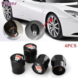 Wholesale Audi A5 Wheels - Car tire valves tyre stem air caps for Audi S line A3 A4 A5 A6 B6B7B8C5C6Q7 wheel tire valves Car Styling 4pcs lot