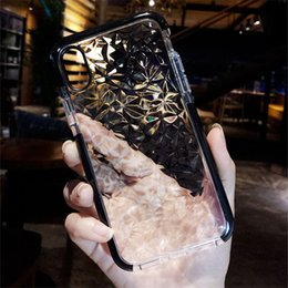Wholesale Diamond Pattern Iphone Case - Fashion Simple Shockproof silicon Case for iphone 6 6s 6plus 7 7plus 8 8plus X Diamond pattern case for iphone Protective shell