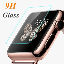 Wholesale Glass Watch Transparent - Tempered Glass 9H Premium Explosion Proof Guard Anti-Scratch Film Screen Protector for Apple Watch iWatch Series 1 2 3 38mm 42mm Smart Sport