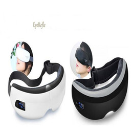 Wholesale Magnetic Goggles - Wireless Digital Eye Massager Music & Eye Care Stress Relief goggles Electric Air pressure Eye Massager DHL free shipping