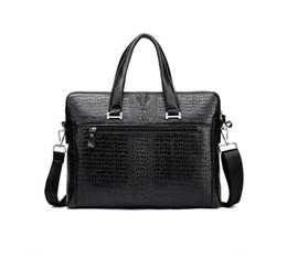 Wholesale Genuine Laptops - genuine leather handbags for men 2018 new arrival luxury men business bags 2018 briefcase laptop bag for men
