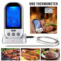 курильщики мяса Скидка Беспроводной пульт дистанционного цифровой приготовления пищи мясо термометр для курильщика гриль печь барбекю главная кухня термометр AAA738