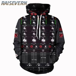 dj skulls Promo Codes - RAISEVERN 3D Music DJ Men Women New Fashion Black Sweatshirts  Funny 9514f66e4457
