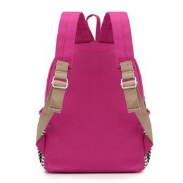 Wholesale High School Babies - New cute Children school bags Cartoon Rabbit kindergarten baby backpack high quality canvas girls Student shoulder bags