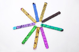 Argentina 3 * 21 CM doble color flip chip pin-lap pulsera regalo de vacaciones de los niños regalo de Navidad color entrega al azar 50 unids cheap holiday pins Suministro