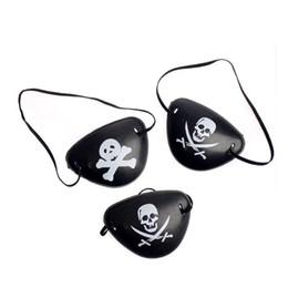 Navidad traje de Halloween para niños juguete pirata parche en el ojo máscara Blindage Eyeshade disfraz 2 patrones pirata de un ojo parche desde fabricantes