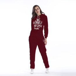 long clothes hook Coupons - Woman Tracksuit Clothing Hoodies Set Letter Print Sportwear Suit Women 2 Piece Set Costumes Sweatshirt+Pants BM104