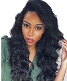 Wholesale Human Lacefront Wigs - 10A Brazilian Full Lace Wigs With Baby Hair Long Body Wave Human Hair Lacefront Wigs Full Lace Human Hair Wigs For Black Women