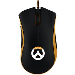 ratón lindo para la computadora Rebajas 1 piezas de alta calidad Razer Death Adder Mouse 3500 DPI ratón óptico con cable Ergonomic Gaming Mouse envío gratis