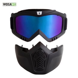 Wholesale men snowboard goggles - WOSAWE 2017 New Men Women Windproof Snowboard Goggles Ski Glasses Motocross Glass with Face Mask Protection Gear