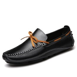 Wholesale Soles Shoe Slip Resistant - The new comfortable inner air insole, wear-resistant rubber sole, men driving with bean shoes, men first choice of leisure shoes