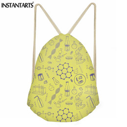 INSTANTARTS Waterproof Sport Gym Bag Women Men Science Teacher Pattern Small  String Backpack Girls Boys Ftiness Drawstring Bags small string man outlet 4df7981f7ab46