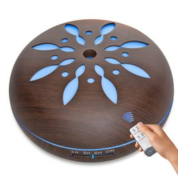 Wholesale Lighting Controls Design - 2018 New Design Remote Control Aroma Diffuser with 7 Color Changing LED Light Ultrasonic Cool Mist Essential Oil Humidifier