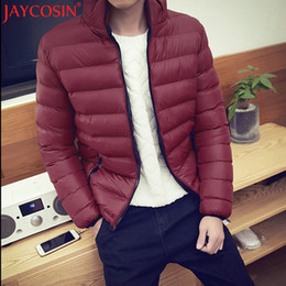 Wholesale Fitted Outerwear - Wholesale- JAYCOSIN Men's Trench 2017 Plus Size Men Winter Warm Slim Fit Thick Bubble Casual Parka Outerwear Coats Nev1 Free Shiping