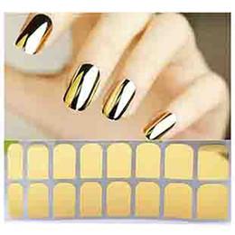 Wholesale Nail Patch Foils - Wholesale- M8601 2015 New hot Fashion Smooth Gold Foil Armour Nail Sticker Art Decoration Sticker Patch Wraps professional